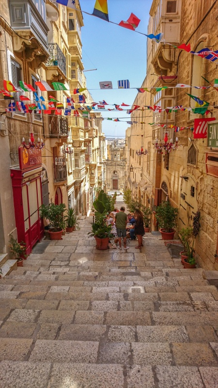 An alley in Valetta, Malta