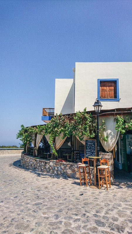 White and blue restaurant on Kos Island