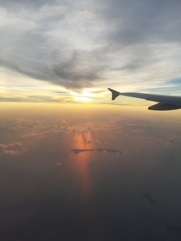 view during the flight to bali