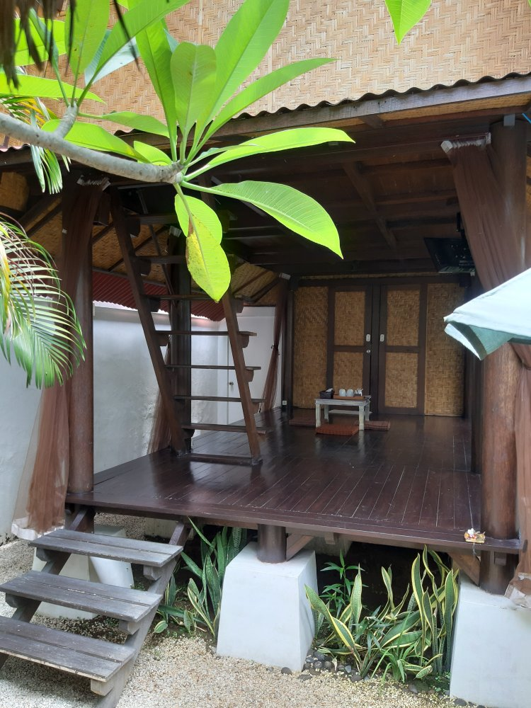 Our Airbnb called sunset bungalows in Seminyak, Bali