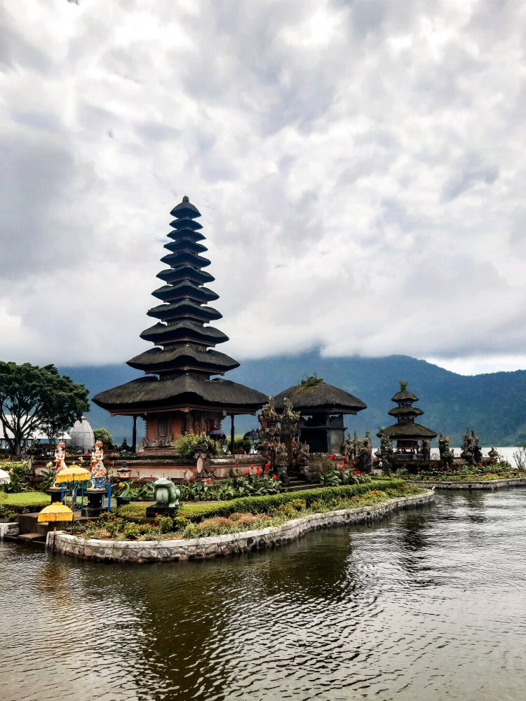 Temple on the water in Bali