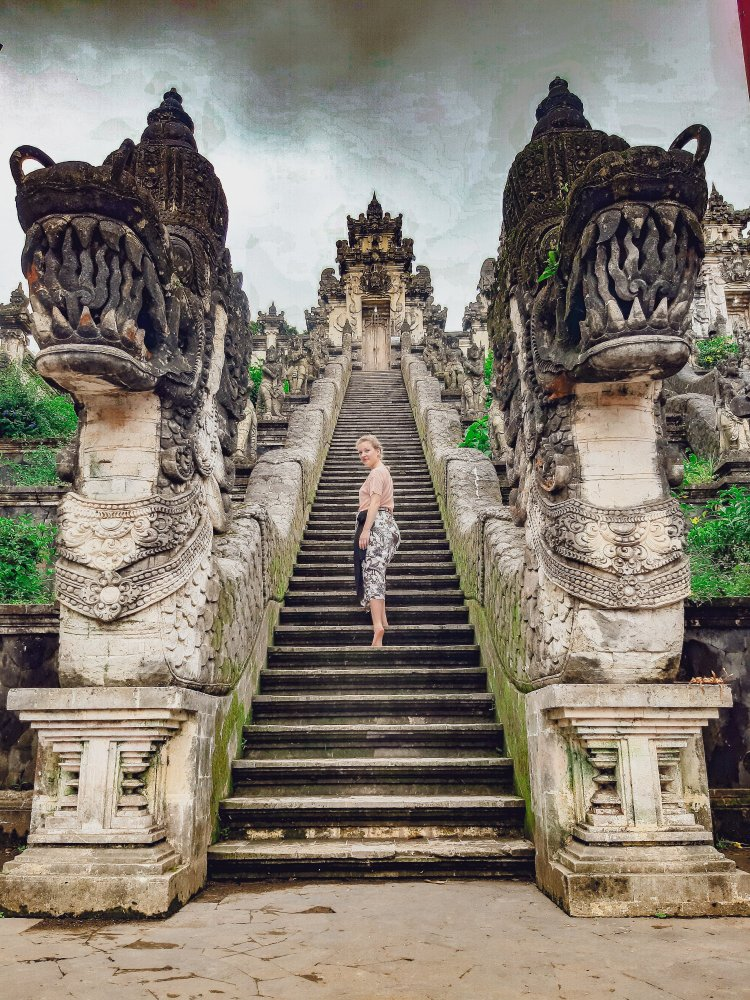 The highest temple in Bali